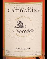 Cuvée des Caudalies Brut Rosé Sans Année Champagne De Sousa Champagne