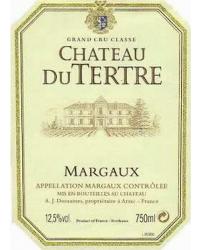 5ème Grand Cru Classé 2012 Château du Tertre Rouge