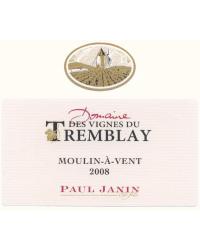 Vignes du Tremblay 2010 Domaine Paul Janin et Fils Rouge
