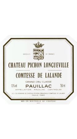 Château Pichon-Longueville Comtesse de Lalande - *Étiquette abîmée*