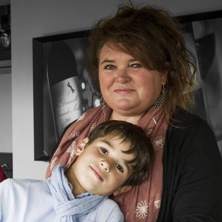 Sylvie Gautreau et son fils