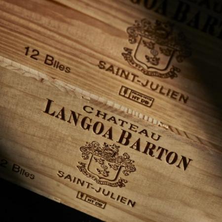 Caisse bois du Château Langoa Barton