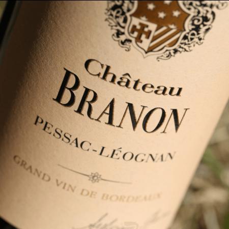 L'étiquette du Château Branon