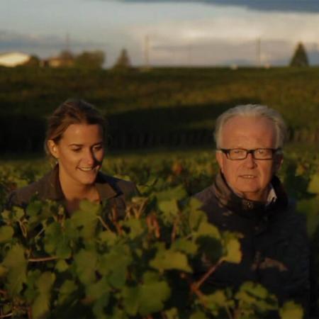 Bernard d'Halluin et sa fille Marie