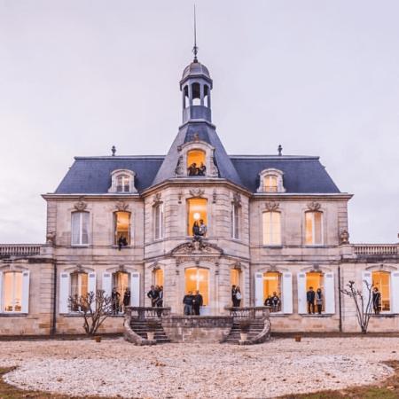 La façade du Château Fonréaud