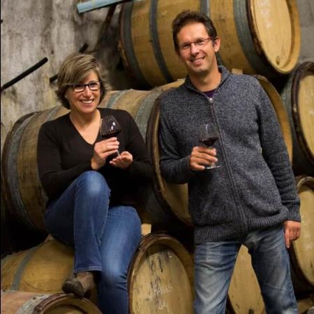 Le duo de vignerons : Florence et Olivier Leriche