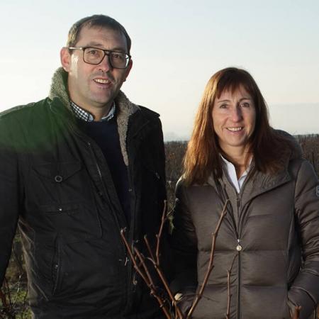Pierre et Sophie Bernier, propriétaires du domaine