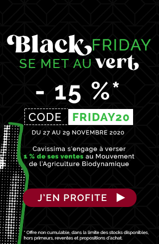 Black Friday - 15 % avec le code FRIDAY20