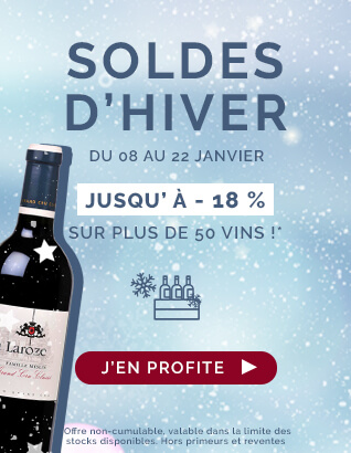 Soldes d'Hiver jusqu'à -18% sur plus de 50 vins