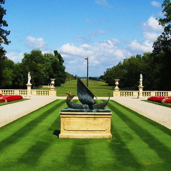 Les magnifiques jardins du Château Beychevelle