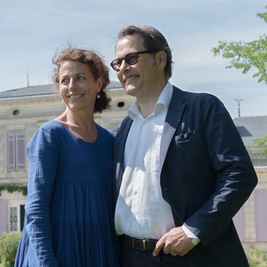Couple Villars-Foubet devant le Château
