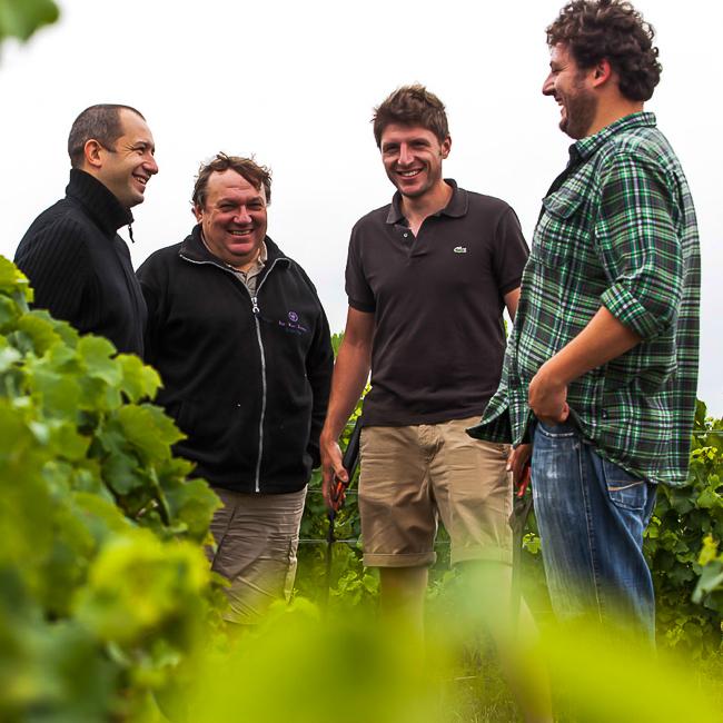 Antoine, Jean-Jacques et Nicolas Robert à la vigne